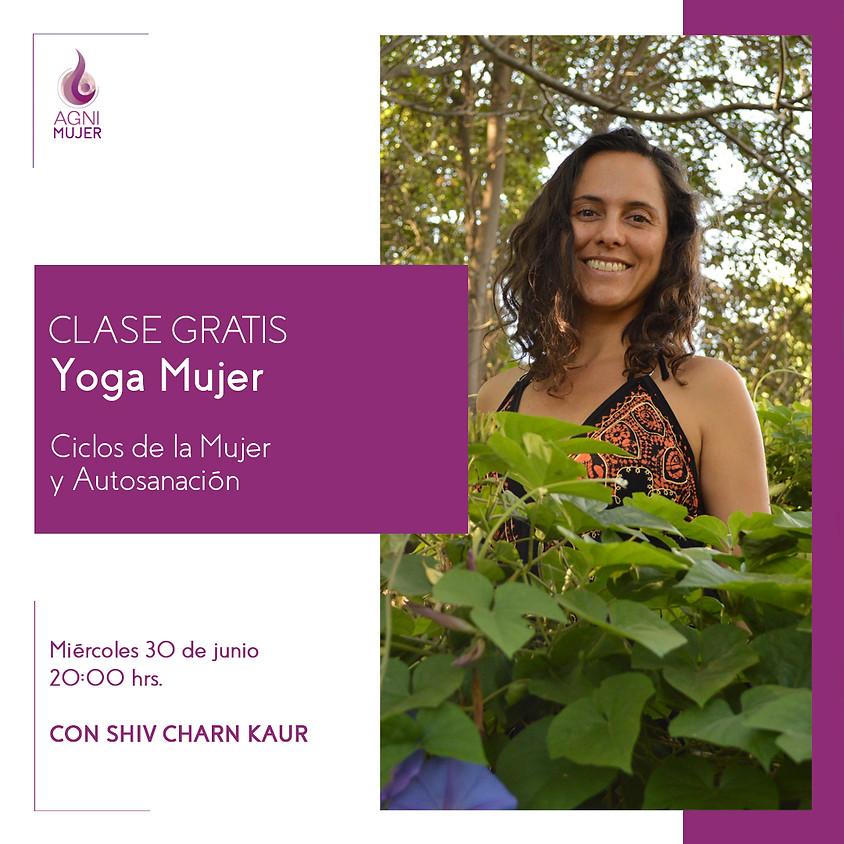 """Masterclass Gratuita de Yoga Mujer  """"Ciclos de la Mujer y Autosanación"""""""