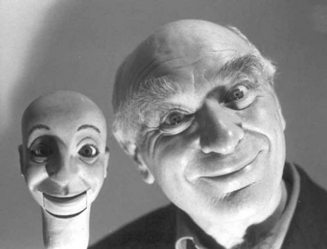 Ken Campbell with friend