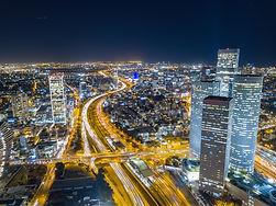 Tel Aviv landscape at night