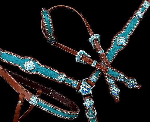 2011 Style Turquoise Croc Tack Set