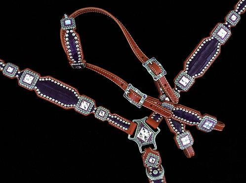 2010 Style Genuine Purple Caiman Tack Set