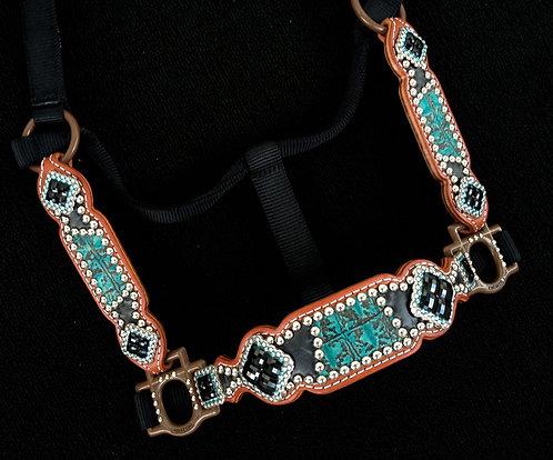 2013 Style Turquoise & Black Croc Halter