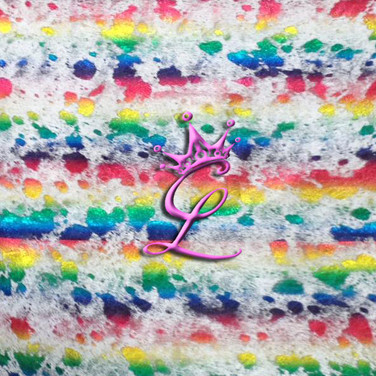 Rainbow Acid Wash Cowhide on White