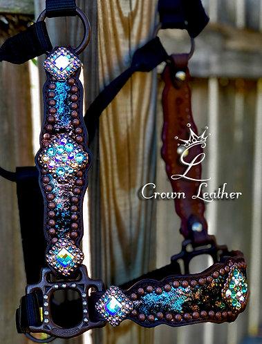 2014 Style Metallic Copper & Turquoise Halter