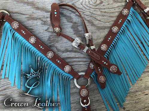 2006 Style Tack Set with Turquoise Fringe