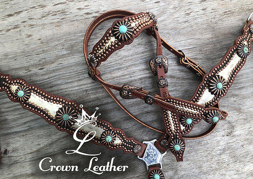 2014 Style Tack Set with Turquoise Stones