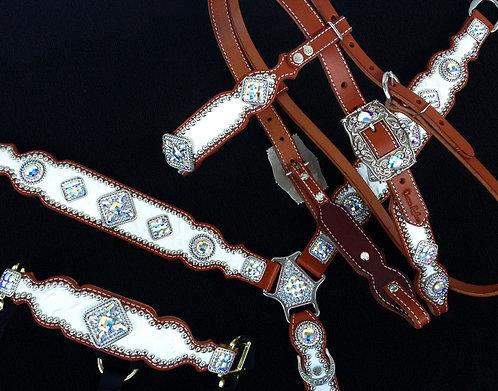 2013 Style White AB Crystal Tack Set