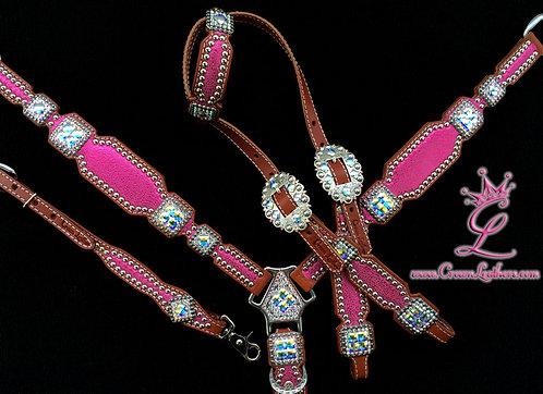 2010 Style Bright Pink Lightning Tack Set