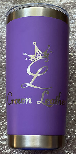 Crown Leather Logo 20oz. Tumbler