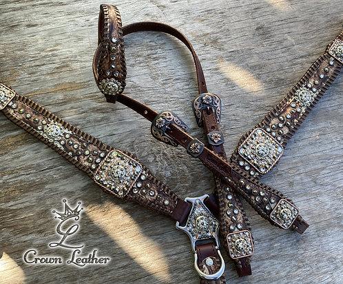 2020 Ivory Laredo Metallic Whipstitch