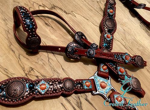 2011 Style Metallic Turquoise & Copper TackSet
