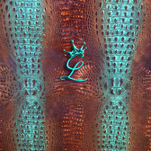 Turquoise & Brown Croc