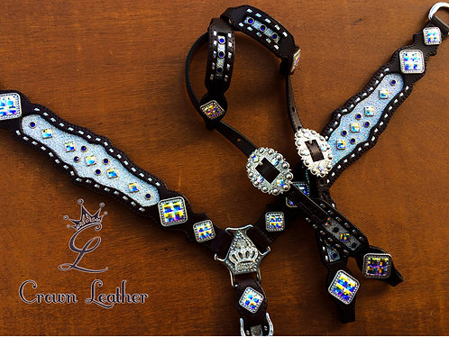 2014 Style Silver Ice Buckstitch Tack Set