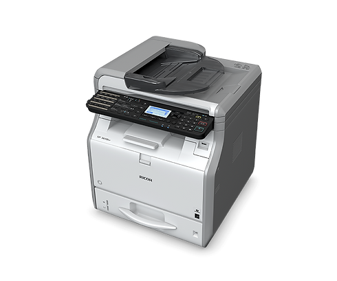 With a single pass duplex scanner the SP 3610SF can scan both sides of an original colour document in a single pass for double sided black-and-white copying, saving time and cutting costs. Alternatively documents can be scanned in colour and forwarded by network connection to a computer. The 4-line LCD panel makes all operations of this versatile MFP easy to manage.
