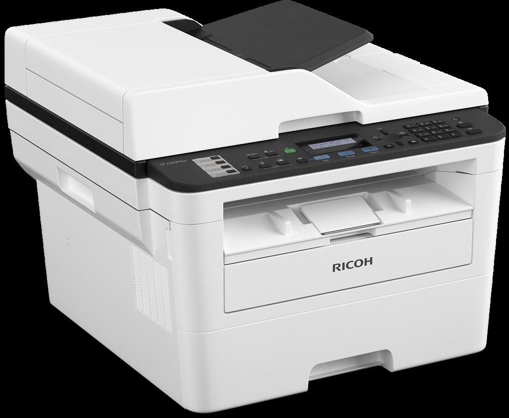Nespalvinis 4 in 1 spausdintuvas Ricoh SP 230SFNW
