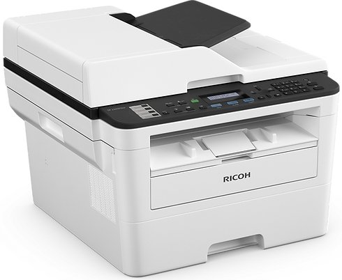 The SP 230SFNw is a compact 4-in-1 solution, created to make your work life easier. With fast 30ppm print speed, automatic 2-sided printing and colour scanning as standard, all managed through a simple interface, it's a low maintenance printer that delivers fast results.  Featuring a separate drum and high yield toner, the SP 230SFNw reduces upkeep spend – offering lower cost per page for added economy.  Built with both wired and wireless connectivity, faxing, colour scanning, printing and copying capabilities, you can get the documents you need instantly, in high quality.