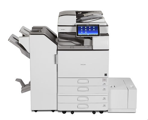 The Ricoh MP 5055SP is expertly designed to help every busy office boost productivity and smooth the workflow, from subtleties such as the quick, noiseless start-up that avoids needless distraction, to major assets like the easy-to-operate, intuitive control screen and the hybrid sheet finishing and choice of folding solutions. Smart and customisable capabilities encourage greater efficiency and creativity. Environmentally friendly features such as the efficient sleep mode and the staple-free option that reduces use of metal - an especially safe solution for use in schools and food factories - add to the already highly professional appeal.