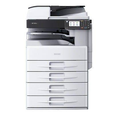 Want to transform your everyday workflows? Choose the RICOH MP 2501SP Black and White Laser Multifunction Printer (MFP) for fast, straightforward and affordable multifunction performance from a single device. Its powerful processing engine makes light work of monochrome printing, copying and even full-color scanning. Use it as your primary document system, a communications hub, or deploy it as part of a Managed Document Services (MDS) strategy
