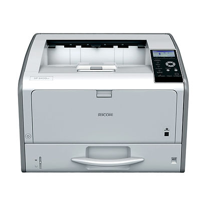 The SP 6430DN is an A3 black-and-white printer with a compact footprint hardly bigger than an A4 device. This reliable printer is both economical to buy and inexpensive to run because it uses little energy in operation and even less in standby. With double-sided printing as standard and a 38ppm output speed you certainly will not have to wait long for your prints.