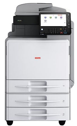 Wherever you place the Ricoh MP C307SPF in any small to medium general office or branch environment, its small footprint will swiftly make it a highly practical and productive workmate. This high performing, simple-to-use device equips users with a powerful Intel processor for enhanced software capabilities which are so simple to set-up, you can start putting them to work quickly and maximise the value of their intuitive interface.   High quality scan, copy, print and fax - 30 ppm print speed High speed Single Pass Document Feeder makes demanding scan and copy jobs easier Intuitive 10.1 inch Smart Operation Panel  Low TCO, low power consumption Smart Device connectivity via Mopria, AirPrint, Smart Device Connect and Ricoh Smart Device Print&Scan app
