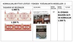 ETLİK KORKULUKLAR  FİYAT LİSTESİ- 2 - Ko