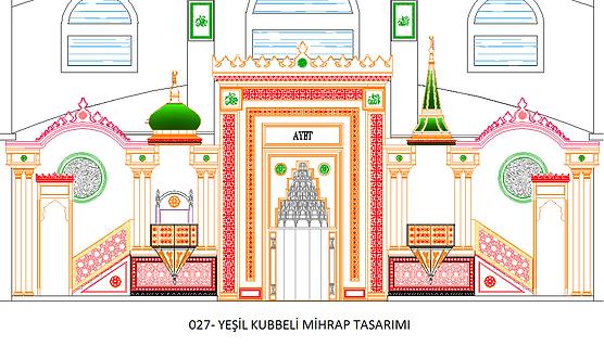027-YEŞİL KUBBELİ A-MİHRAP TASARIMI.png