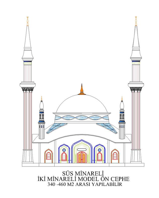 2 MİNARELİ 4 SÜS MİNARELİ -340 -  460 -6