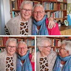 Svigermor Gudrun på 85 år og hendes niece Charlotte på 54 år. Charlotte startede i en alder af 47 år et nyt kapitel som guide på Azorerne. Måske kunne det inspirere andre til også at springe ud i nye ting :-)