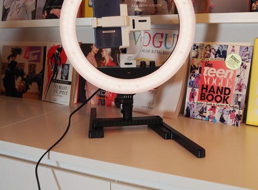 Min nye videolampe med LED-ringlys