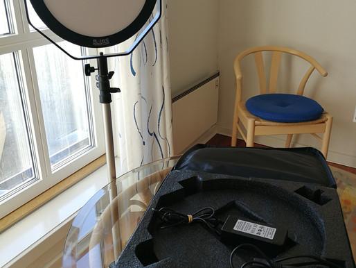 Videolampe til fotos og film