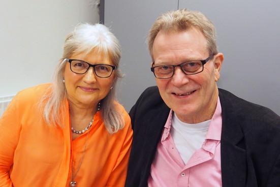 Lene Kirkegaard (blogger på MORMORSwalkIN) og ægtefælle (Michael)