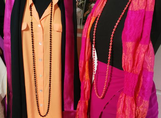 Røde/orange/lilla outfits til DET GRÅ GULD