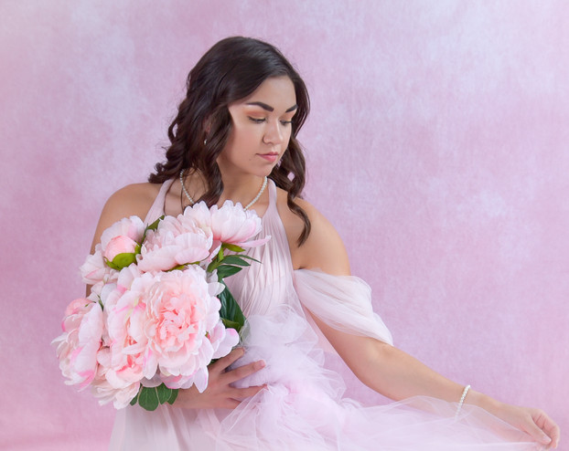 pretty in pink styled portrait session.