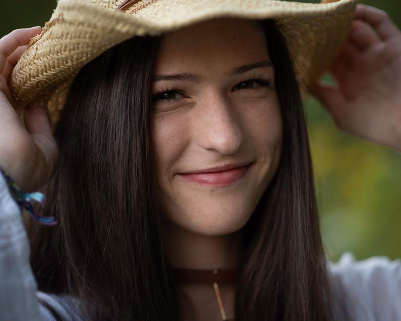smile hat white shirt cowboy