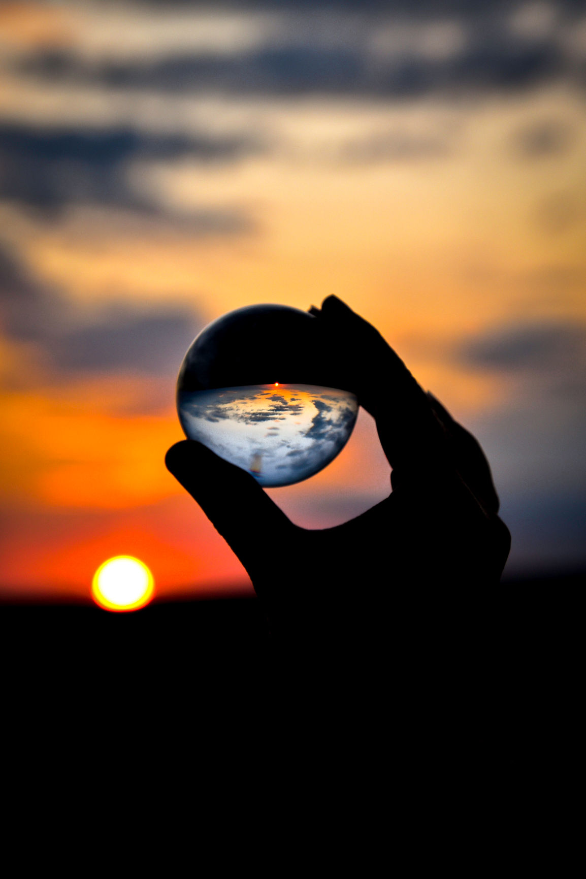 sunset in sphere
