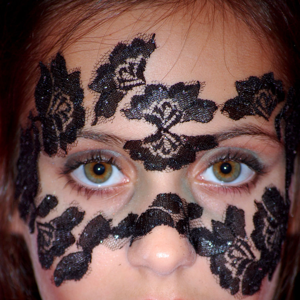 lace mask, black, girl, hazel eyes, halloween, costume