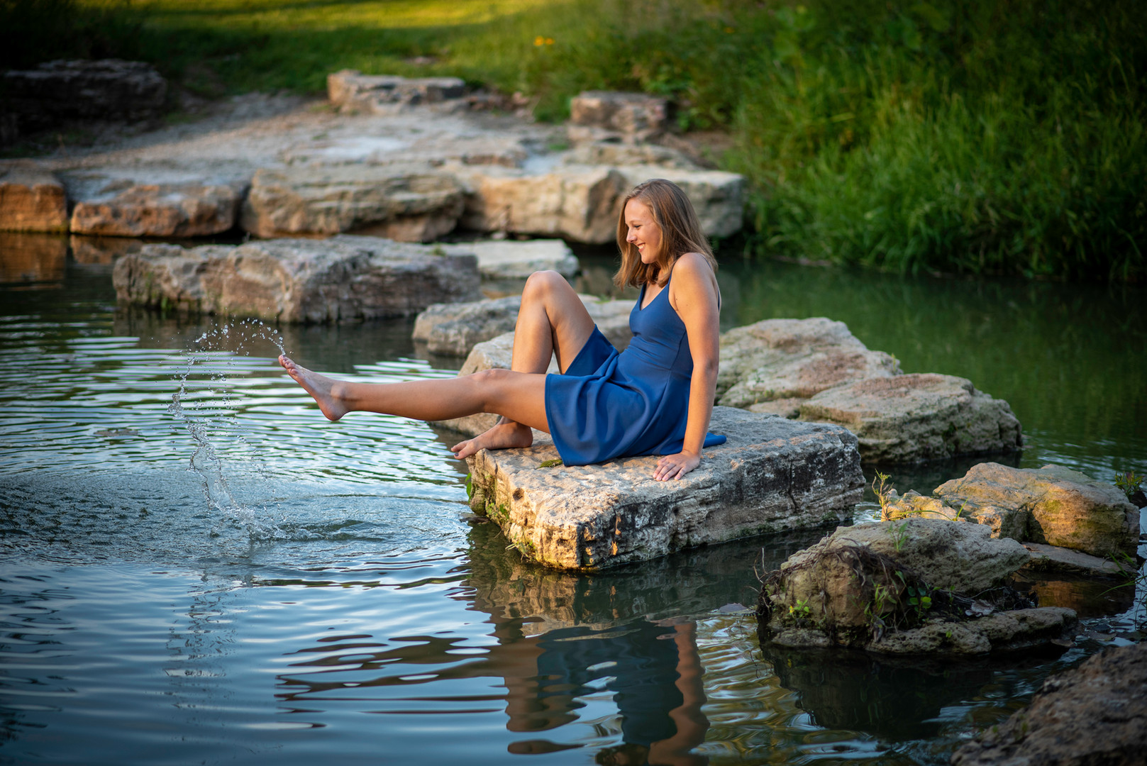 high school senior girl water
