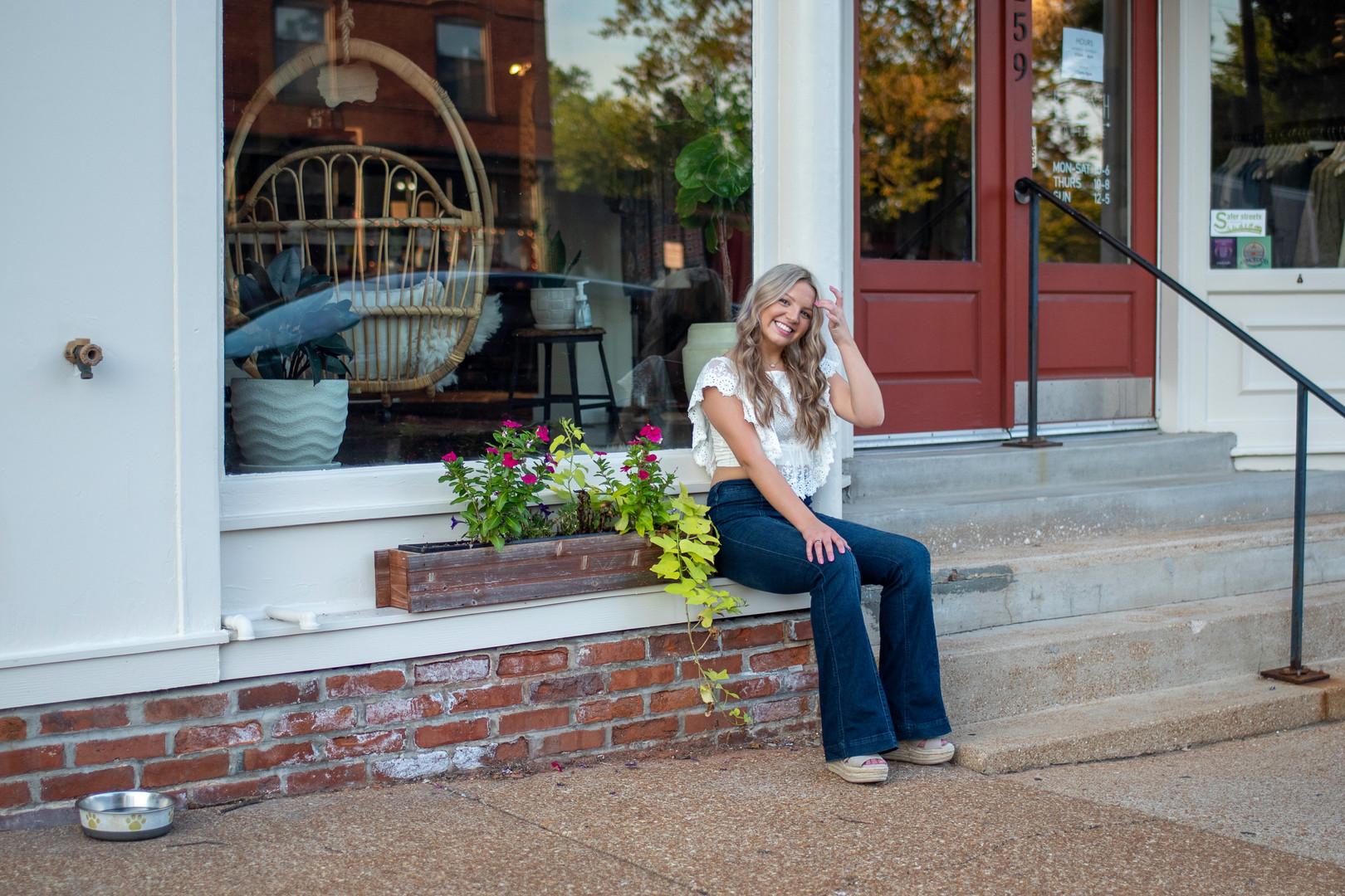 high school senior girl urban