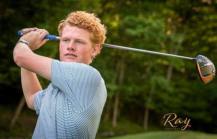high school senior guy golf