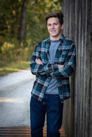 high school senior guy rustic