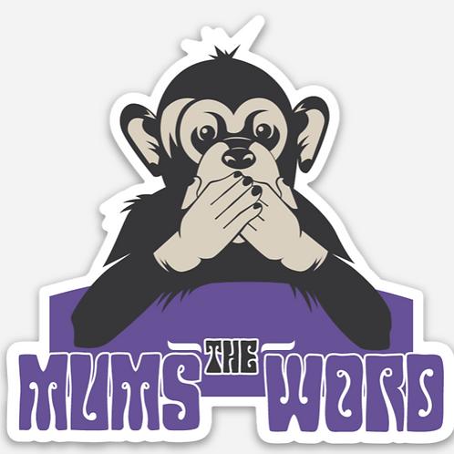 """3"""" Purple Monkey Sticker"""