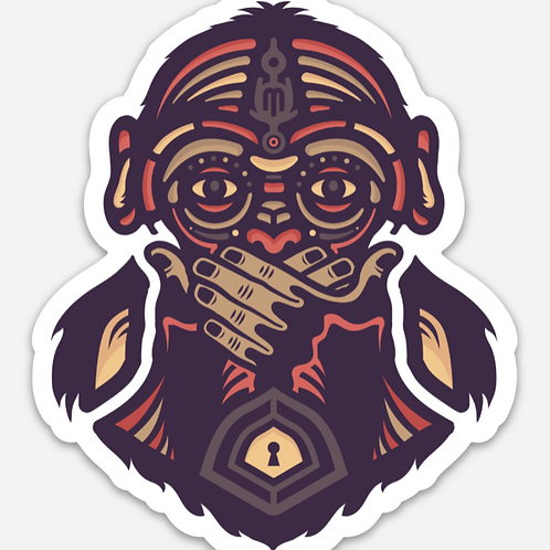 "4"" Speak No Evil Sticker"