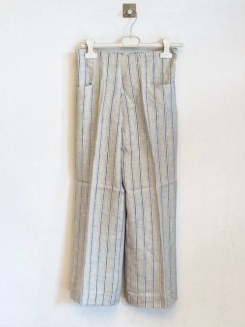 Pantalone donna di  lino a righe