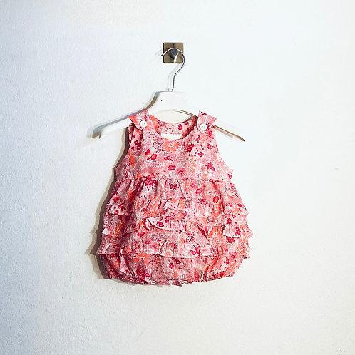 Pagliaccetto bimba rouches fiorellini
