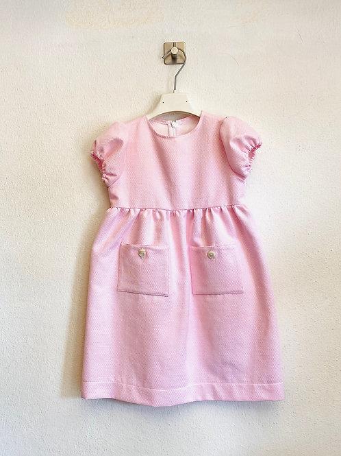 Abitino bambina piquet rosa