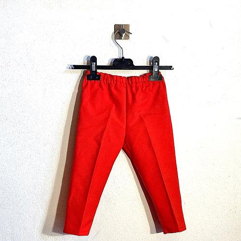 Pantaloni bambini piquet rossi