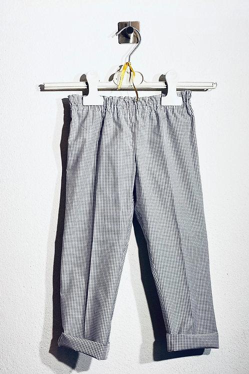 Pantaloni cotone a quadretti bambini