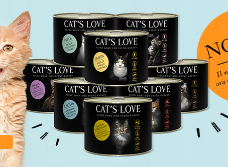 CAT'S LOVE ora disponibile anche in formato lattina da 200 gr