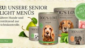 Novità DOG'S LOVE! Sono arrivati i menu Senior