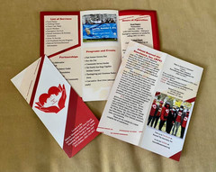 """Our new brochure is here!  Thank you, Jake Czubinski of """"Catchafire"""" for the great design work and to Jason Henderberg of Henderberg Foundation  for donating the printing. We appreciate you sharing your time, talents and resources to it possible."""